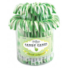 Green Candy Canes, 72 Pieces