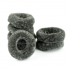 Sanded Licorice Wheels, 2kg