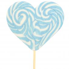 Light Blue Heart Lollipop 200gr, 6 Pieces