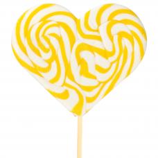 Yellow Heart Lollipop 200gr, 6 Pieces