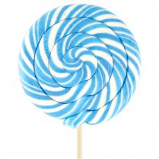 Blue Round Lollipop 200gr, 6 Pieces