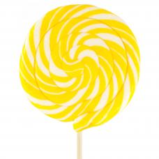 Yellow Round Lollipop 200gr, 6 Pieces