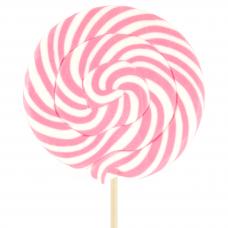 Pink Round Lollipop 200gr, 6 Pieces