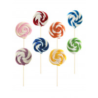 Mix Monocolor Round Lollipop 25gr, 10 Pieces
