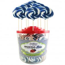 Blue Round Lollipop 25gr, 50 Pieces