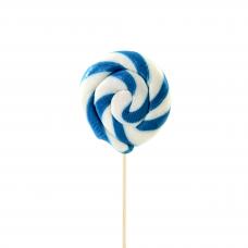 Light Blue Round Lollipop 25gr, 10 Pieces