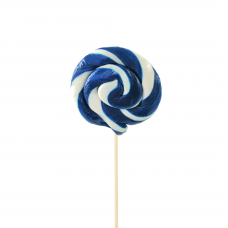 Blue Round Lollipop 25gr, 10 Pieces