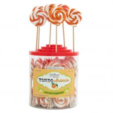 Orange Round Lollipop 25gr, 50 Pieces
