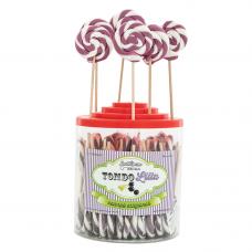 Violet Round Lollipop 25gr, 50 Pieces