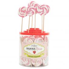 Pink Round Lollipop 25gr, 50 Pieces