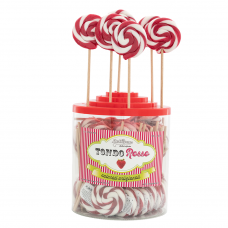Red Round lollipop 25gr, 50 Pieces