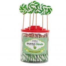 Green Round Lollipop 25gr, 50 Pieces