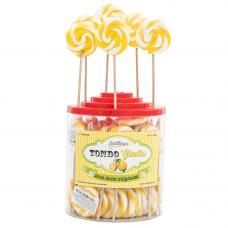 Yellow Round Lollipop 25gr, 50 Pieces