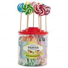 Mix Monocolor Round Lollipop 25gr, 50 Pieces
