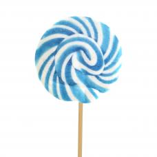 Blue Round Lollipop 50gr, 10 Pieces