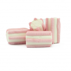 Pink Striped Marshmallow, 1kg