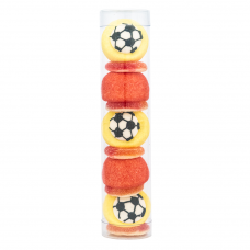 Red and Yellow Football Tube, 100g